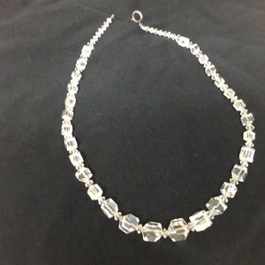 Crystal necklace.